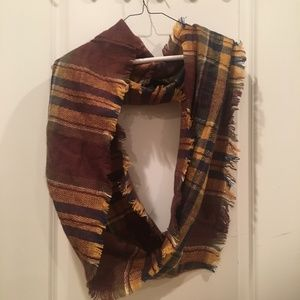 Plaid Infinity Scarf NWOT